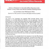 Getting started with the India Office Records