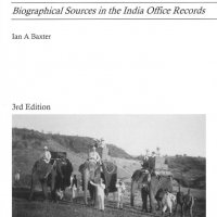 Baxter's guide: Biographical sources in the India Office Records