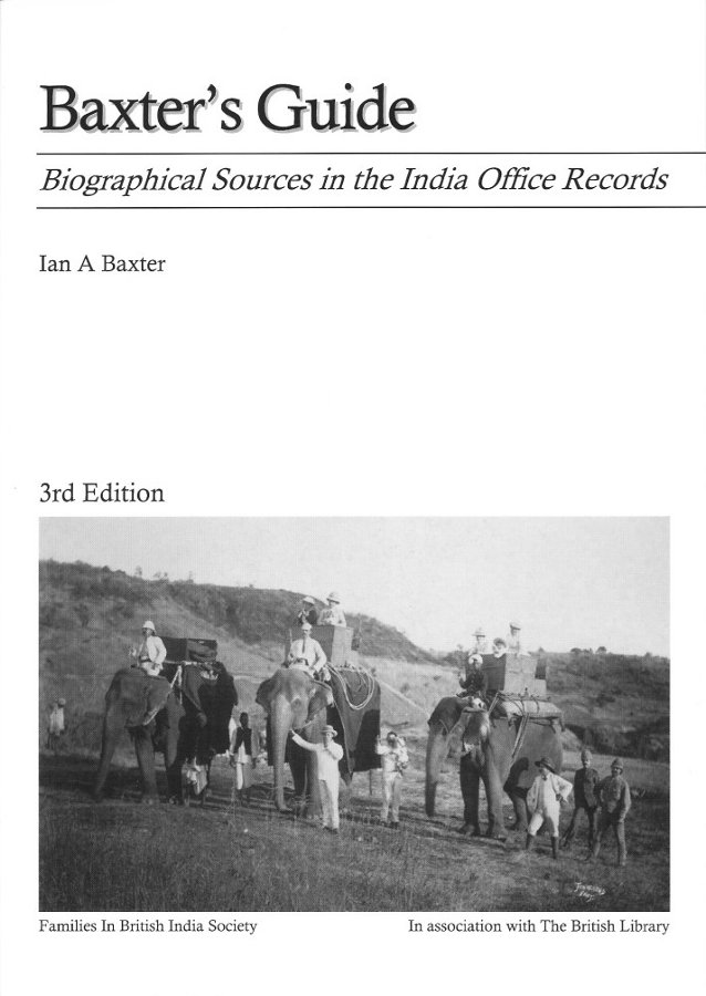 Baxter's guide – A 'must-have' for the British India family historian