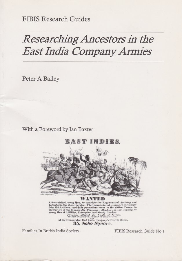 Researching ancestors in the East India Company Armies