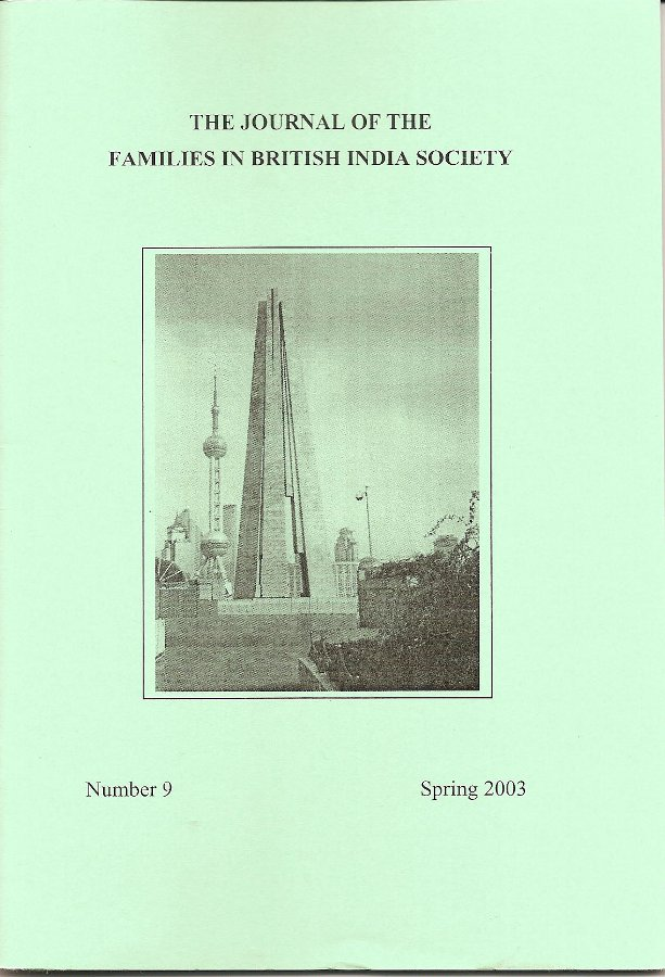 FIBIS Journal - 9 (Spring 2003)