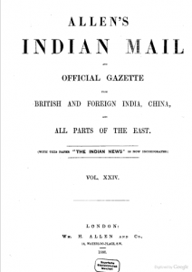Allens Indian Mail 1887 – BMD's uploaded