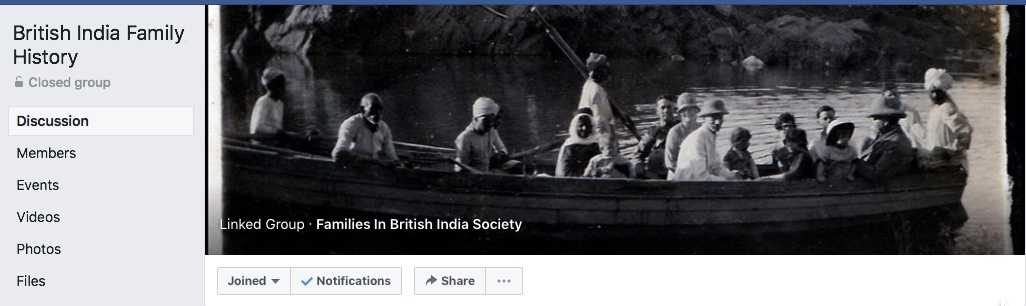 British India Family History Facebook Group