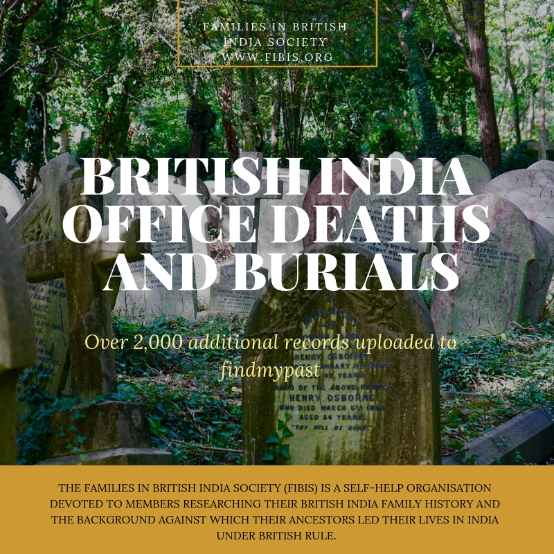 British India Office Deaths and Burials